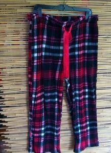 Faded Glory Red Plaid Fleece PJ Pants Sz XL